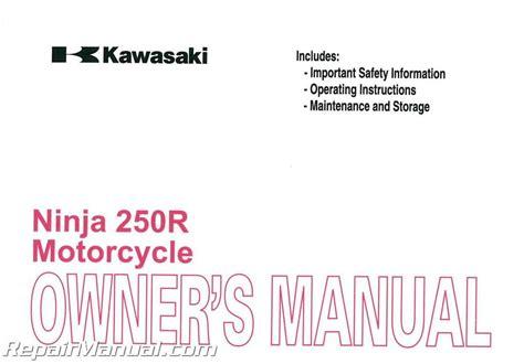 2011 Kawasaki Ninja 250r Owners Manual