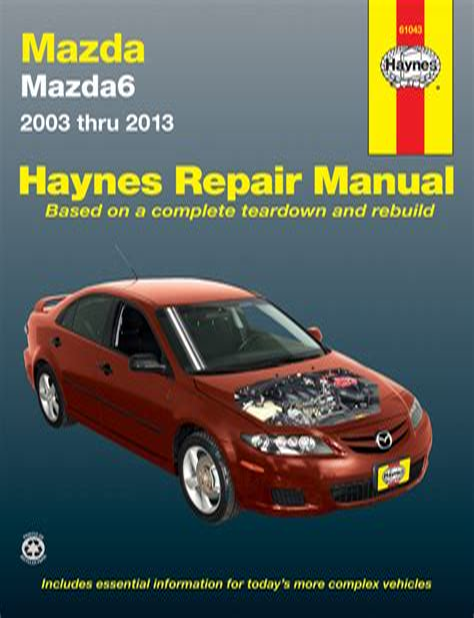2011 Mazda 6 Workshop Manual