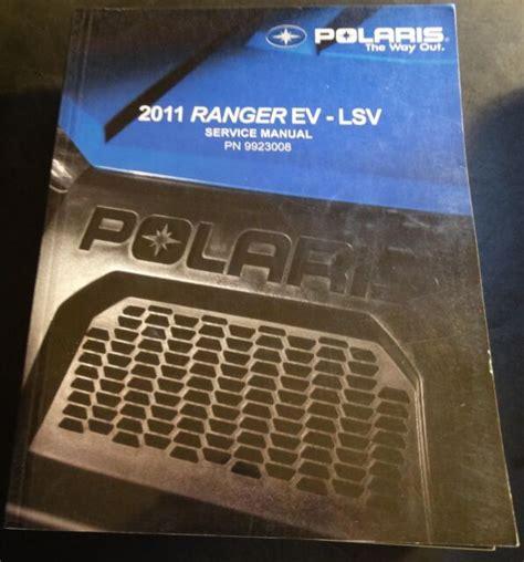 2011 Polaris Ranger Ev Factory Service Workshop Manual