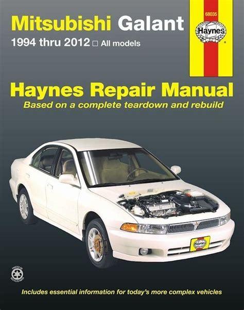 2012 Mitsubishi Galant All Models Service And Repair Manual