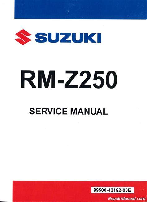2013 Rmz250 Manual