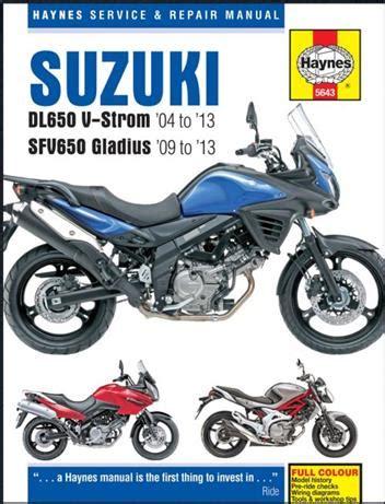 2013 Suzuki Sfv650 Repair Service And User Owner Manual