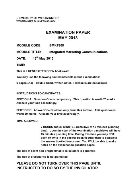 2014 2015 Marketing Objective And Essay Question Answer