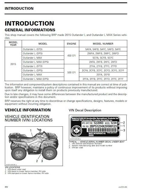 2015 Can Am 650 Service Manual