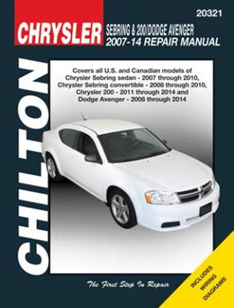 2015 Chrysler Sebring Chilton Repair Manual