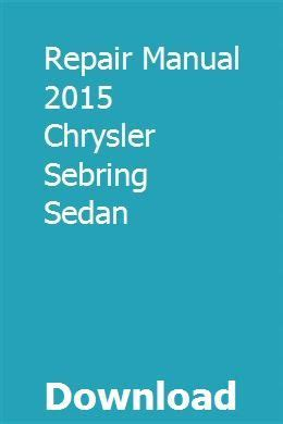 2015 Chrysler Sebring Sedan Owners Manual