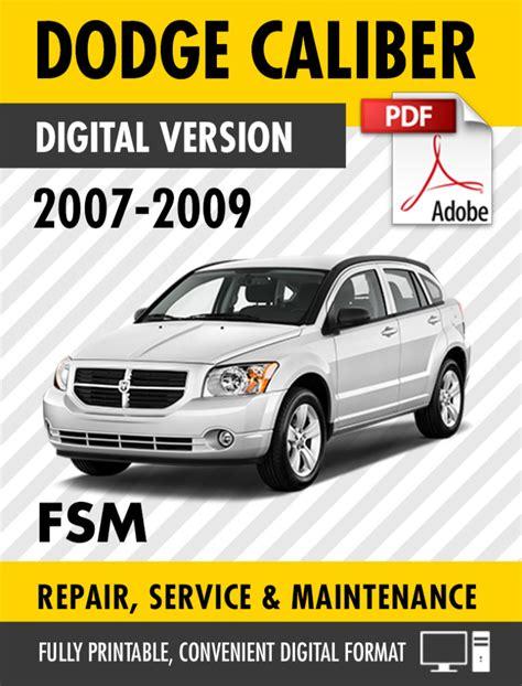2015 Dodge Caliber Sxt Repair Manual