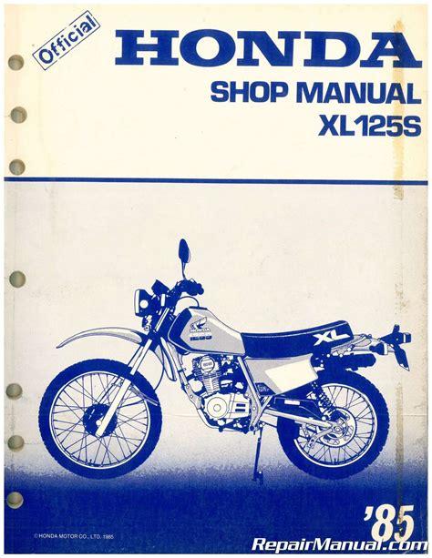 2015 Honda 125 Xl Maintenance Manual
