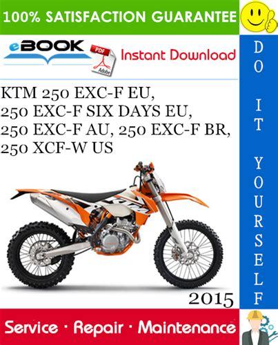 2015 Ktm 250excf Repair Manual