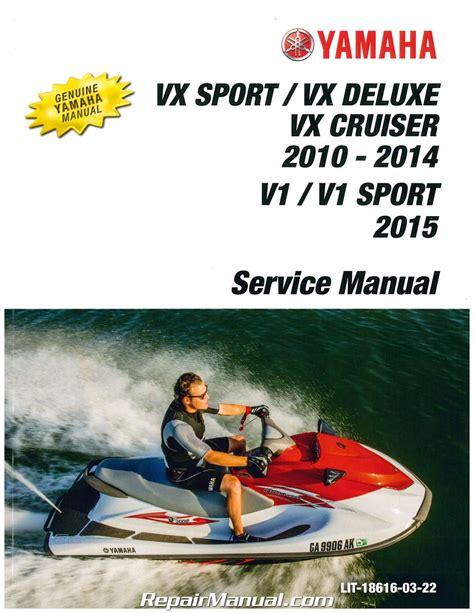 2015 Yamaha Waverunner Vx Cruiser Service Manual