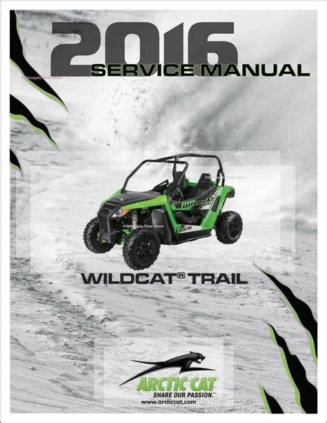 2016 Arctic Cat Wildcat Manual