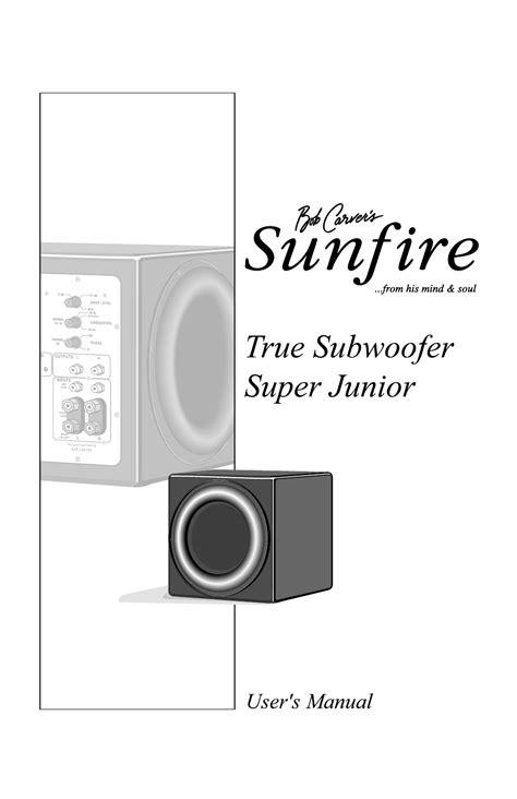 2016 Sunfire Manual