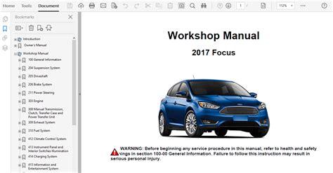 2017 Ford Focus Shop Manual