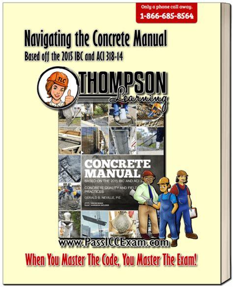 2017 Icc Concrete Manual