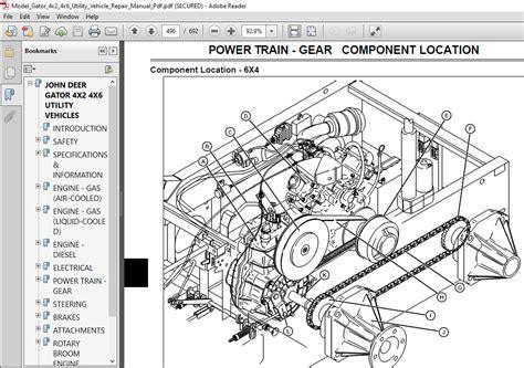 2017 John Deere Gator 4x2 Parts Manual