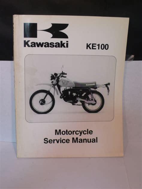 2017 Kawasaki Ke100 Manual