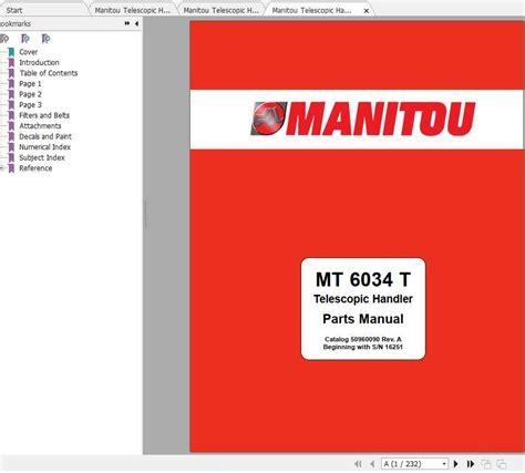 2017 Manitou Maintenance Manual
