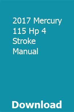 2017 Mercury 115 Workshop Manual