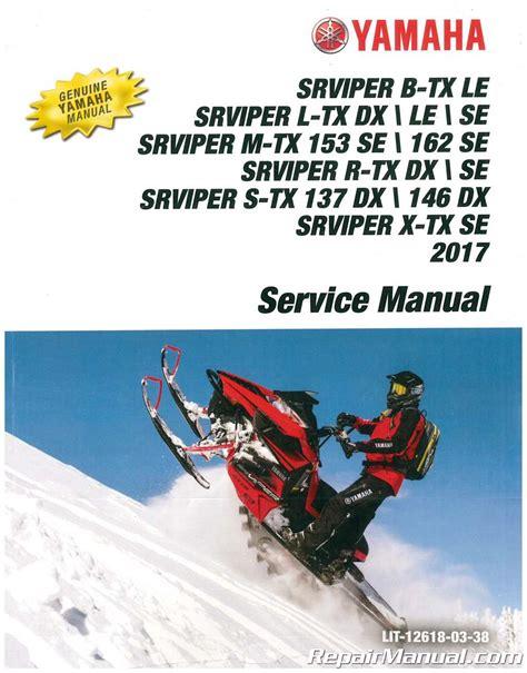2017 Yamaha Sr Viper Snowmobile Service Manual