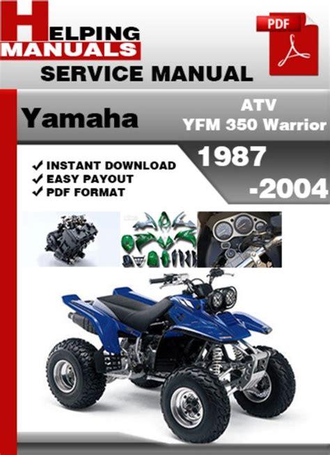 2018 Yamaha Warrior 350 Service Manual