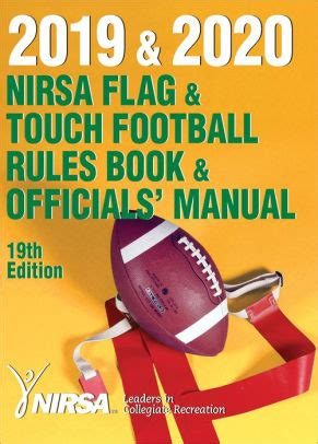 2019 And 2020 Nirsa Flag And Touch Football Rules Book And Officials Manual English Edition