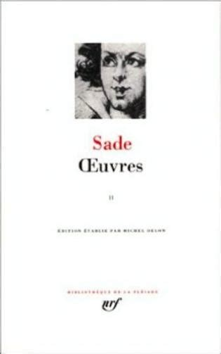 2070113515 Sade Oeuvres Tome 2