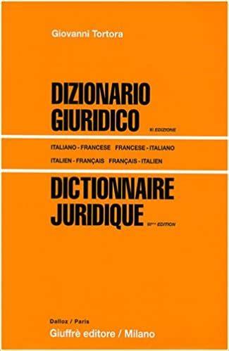 224708141X Dictionnaire Juridique Edition Bilingue Francais Italien Italien Francais