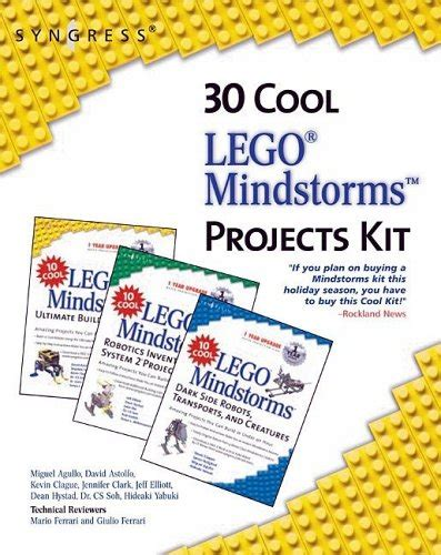 30 cool lego mindstorms project kit 3 book set amazing projects you can build in under an hour
