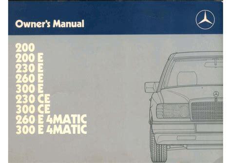 300e Mercedes Benz Repair Manual