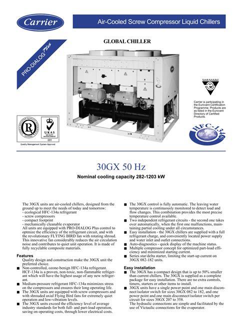 30gx Carrier Chiller Manual