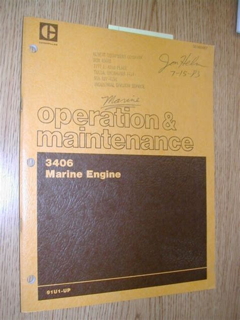 3406 Caterpillar Operation And Maintenance Manual