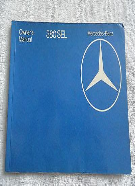 380 Sel Mercedes Field Service Manual