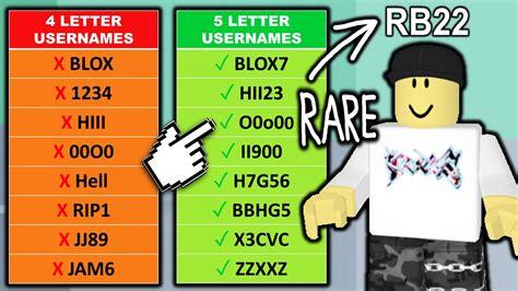 1 Things 4 Letter Roblox Username Generator
