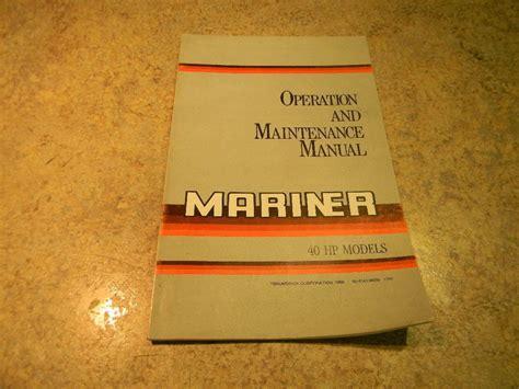 40 Hp Mariner Manual