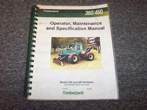 460c Timberjack Skidder Manual
