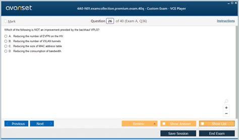 4A0-N01 Online Test