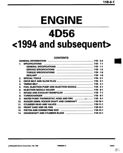 4d56 Engine Repair Manual