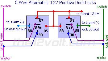 5 Wire Door Lock Relay Diagram