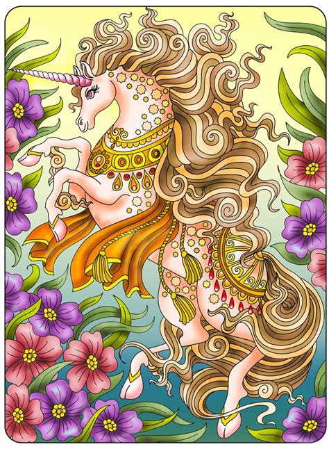 50 Graceful Unicorns A Unicorn Coloring Book With 50 Images Of Unicorns Alone Or In Company Of Fairies Mermaids Princesses And Unicorn Babies