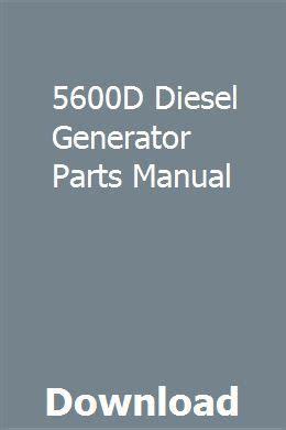 5600d Diesel Generator Parts Manual