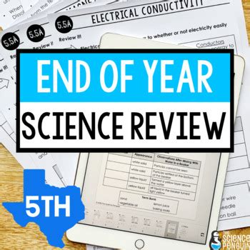 5th Grade Staar Science Study Guide