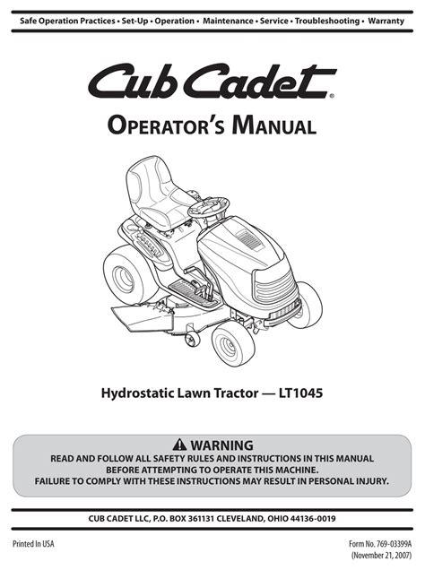 62 International Cub Cadet Manuals