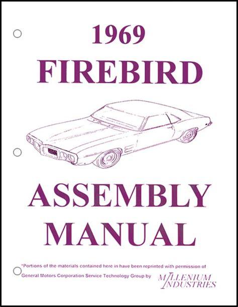 69 Firebird Assembly Manual