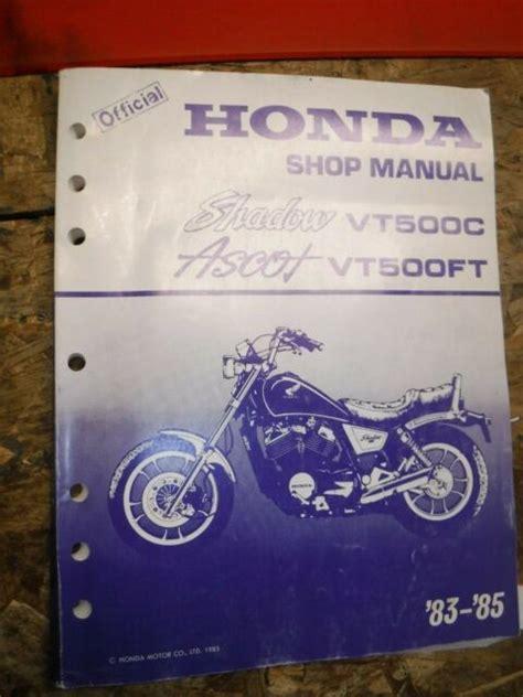 84 Honda Shadow Repair Manual