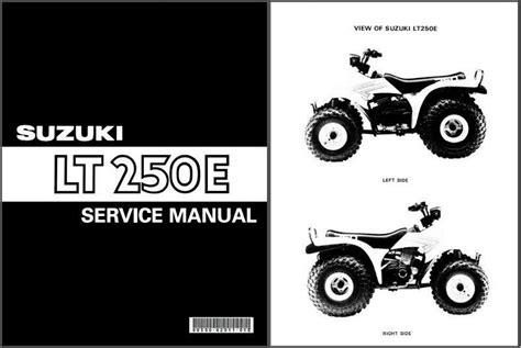 84 Suzuki Lt250e Quadrunner Repair Manual