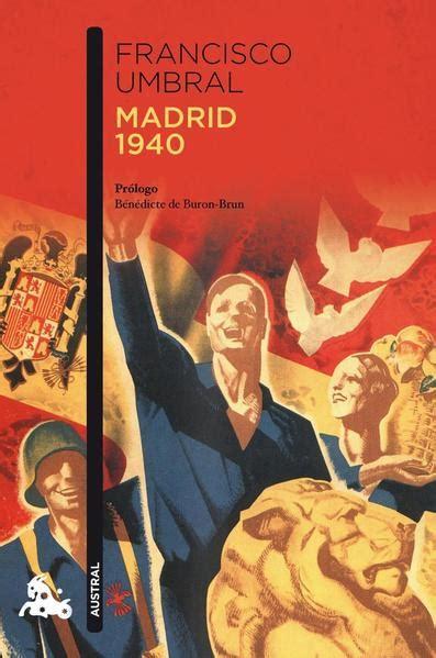8408115049 Madrid 1940 Narrativa