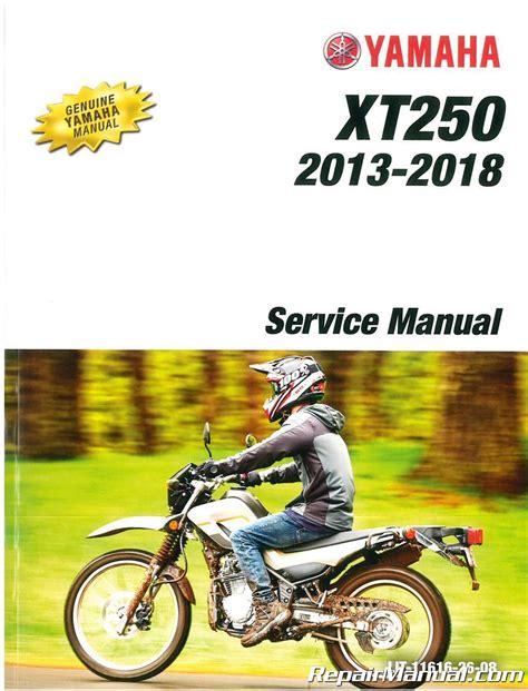 85 Xt250 Repair Manual