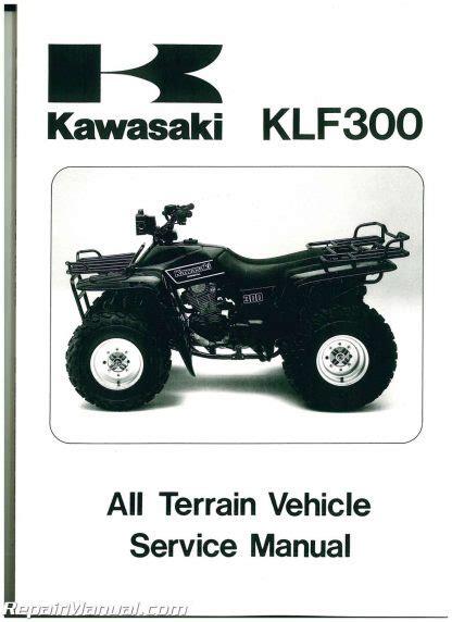 87 Kawasaki Bayou Klf300 Service Manual
