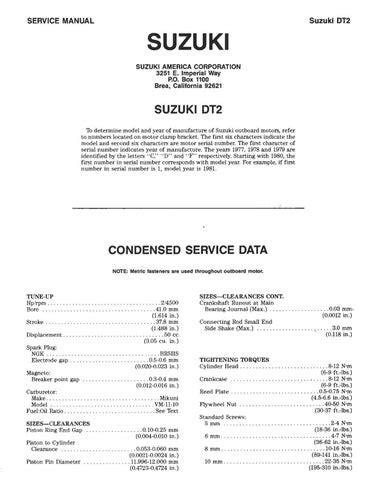 88 Suzuki Dt6 Manual