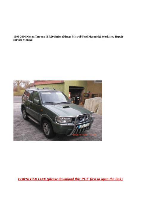 92 Terrano Workshop Manual
